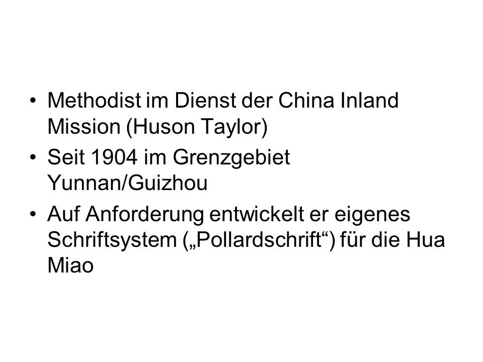Methodist im Dienst der China Inland Mission (Huson Taylor)