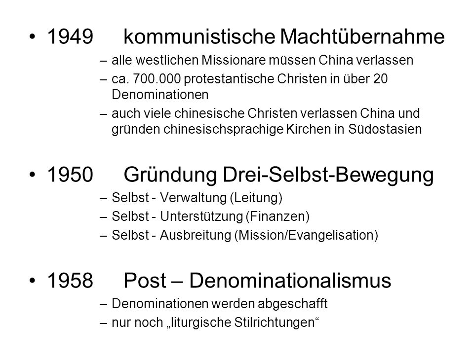 1949 kommunistische Machtübernahme