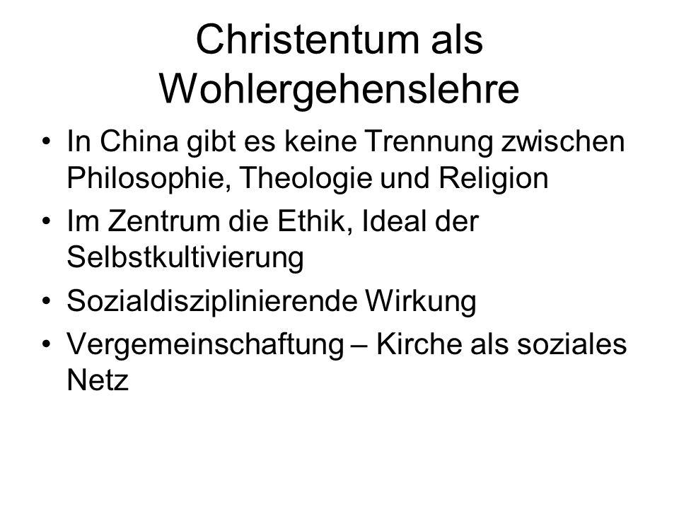 Christentum als Wohlergehenslehre