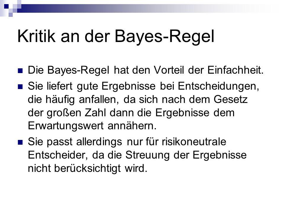 Kritik an der Bayes-Regel