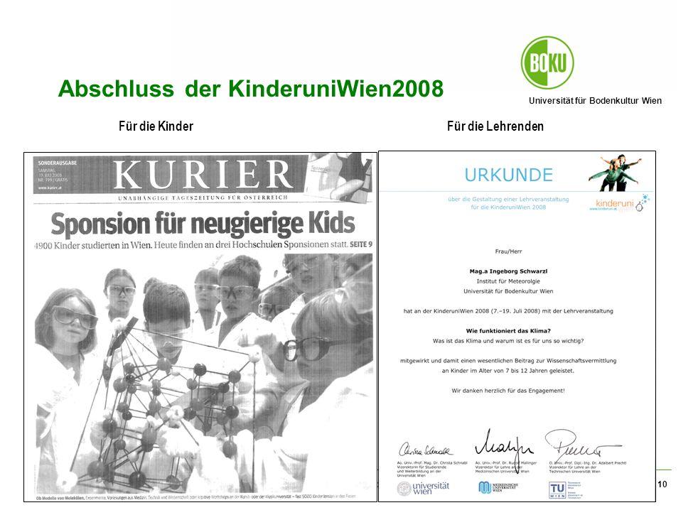 Abschluss der KinderuniWien2008