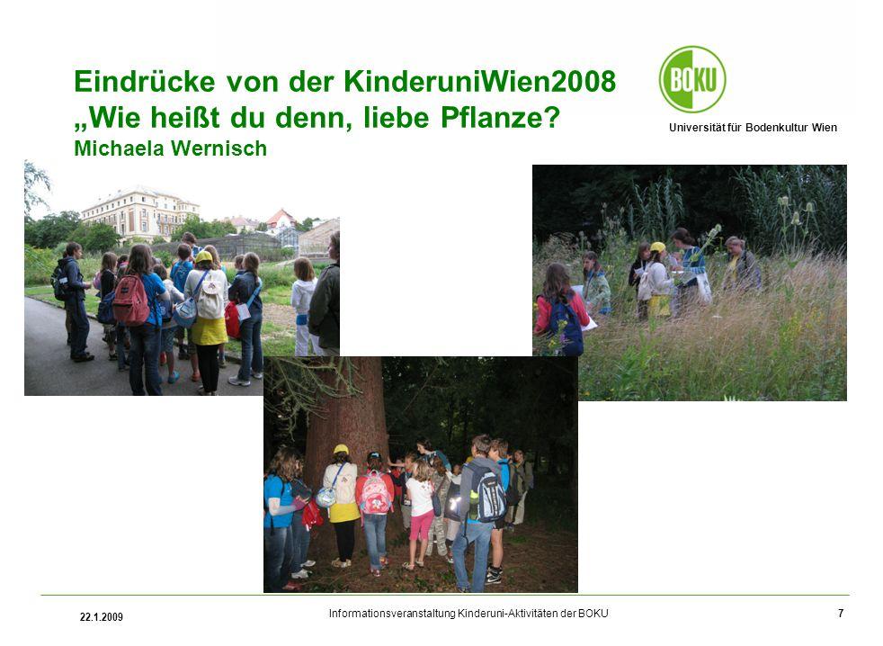 """Eindrücke von der KinderuniWien2008 """"Wie heißt du denn, liebe Pflanze"""