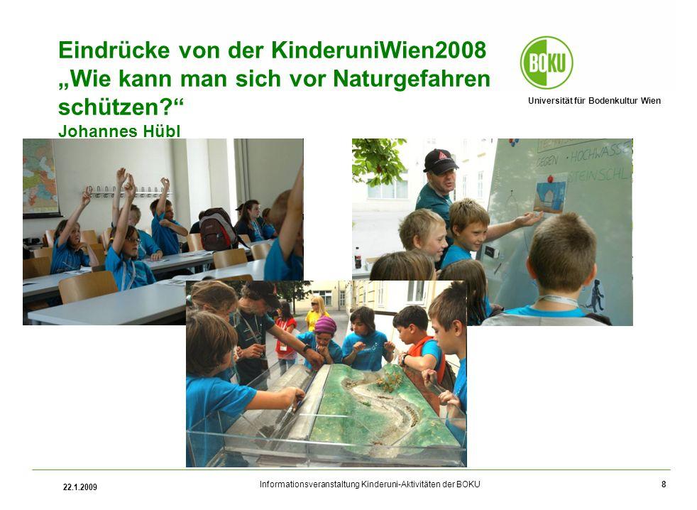 """Eindrücke von der KinderuniWien2008 """"Wie kann man sich vor Naturgefahren schützen Johannes Hübl"""