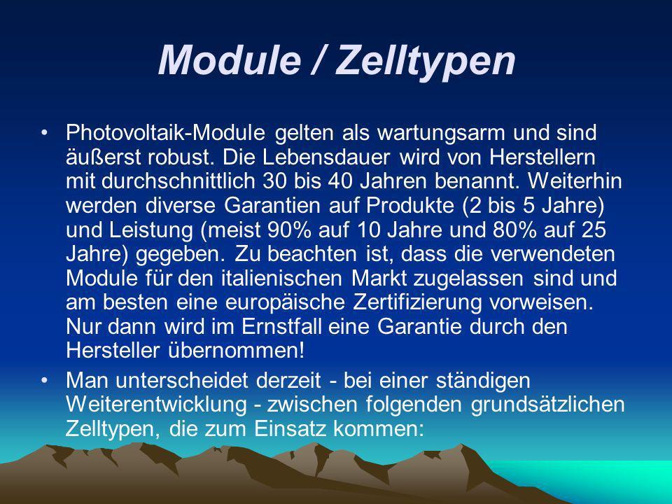 Module / Zelltypen