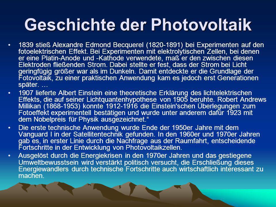 Geschichte der Photovoltaik
