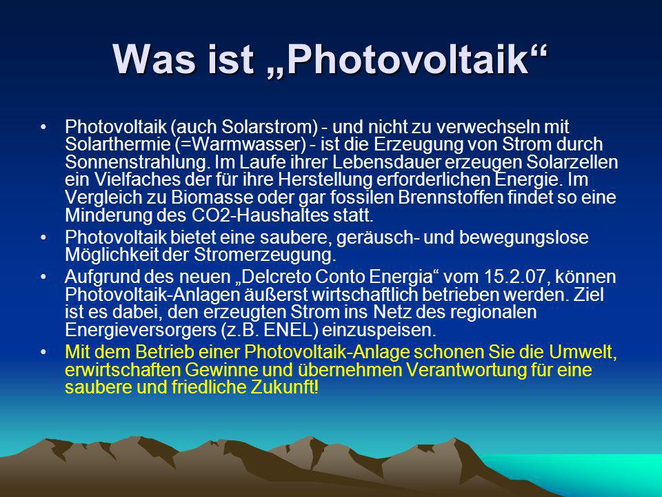 "Was ist ""Photovoltaik"