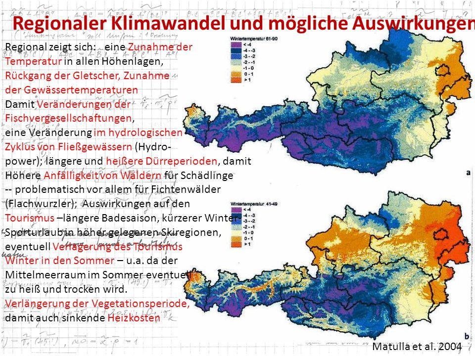 Regionaler Klimawandel und mögliche Auswirkungen