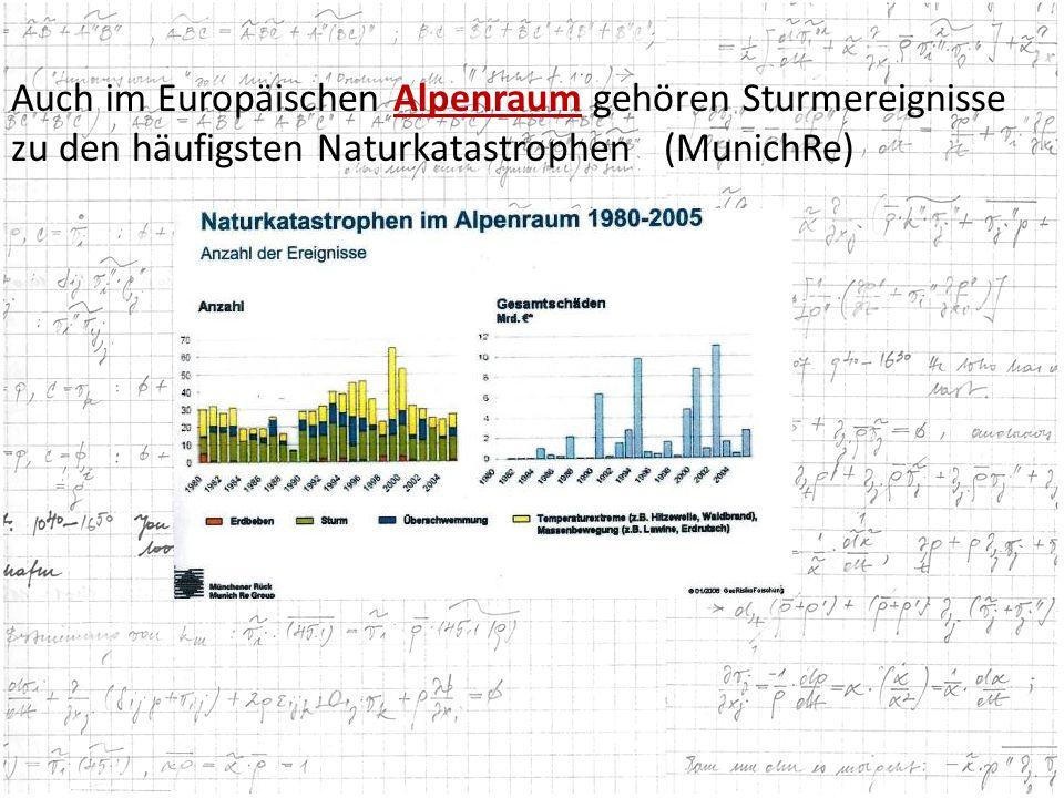 Auch im Europäischen Alpenraum gehören Sturmereignisse
