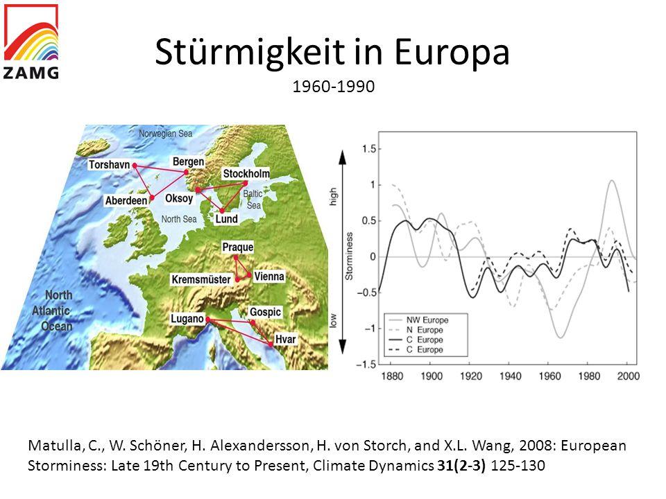 Stürmigkeit in Europa 1960-1990