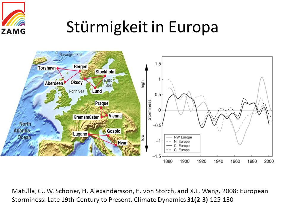 Stürmigkeit in Europa