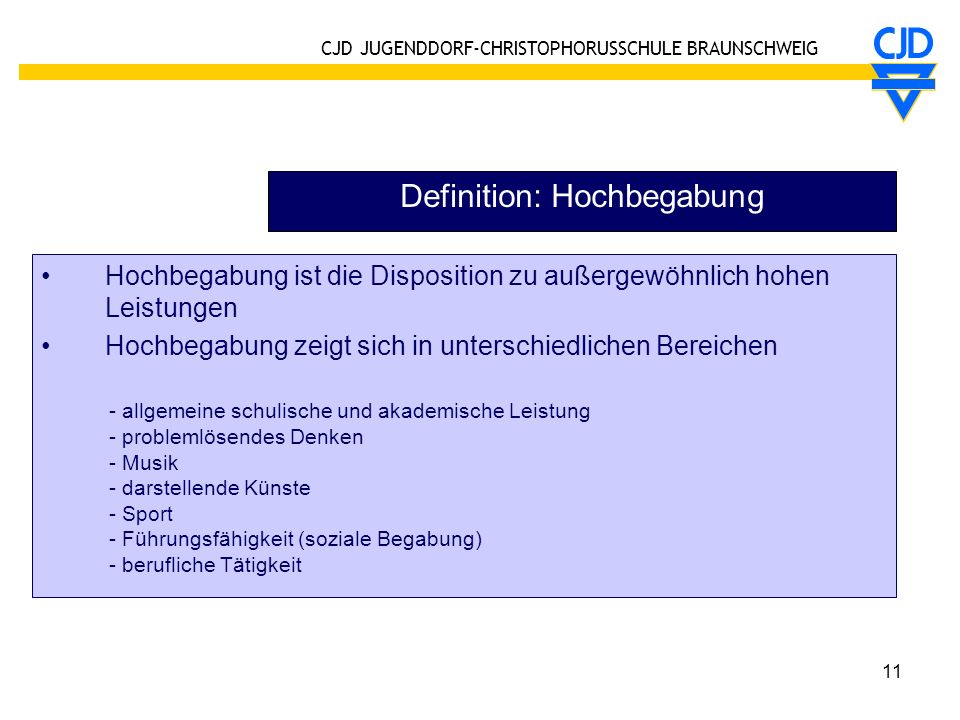 Definition: Hochbegabung