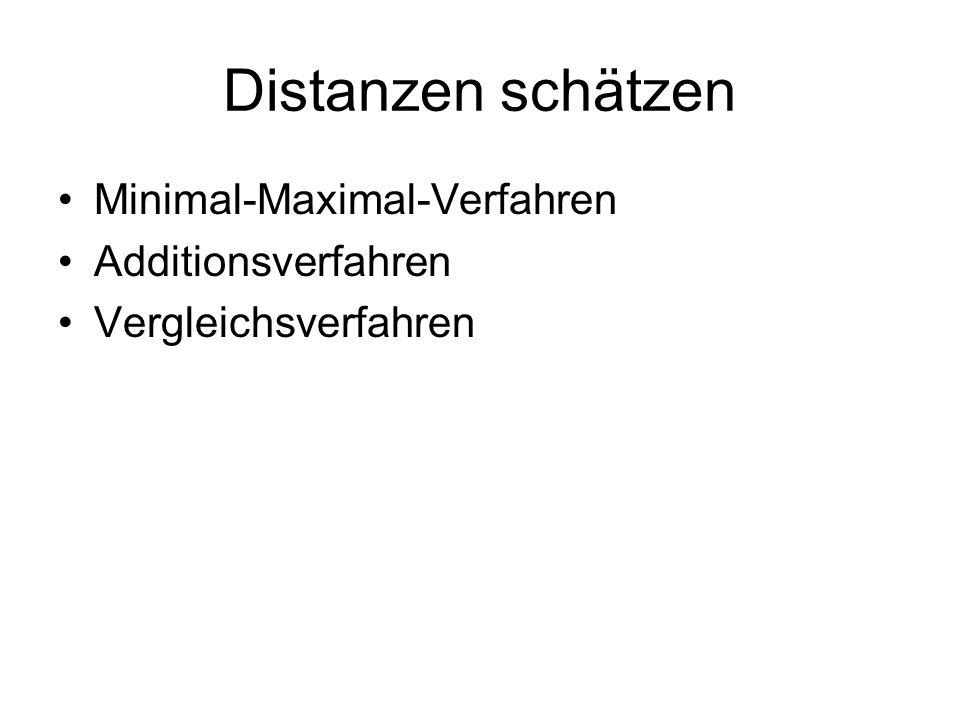 Distanzen schätzen Minimal-Maximal-Verfahren Additionsverfahren