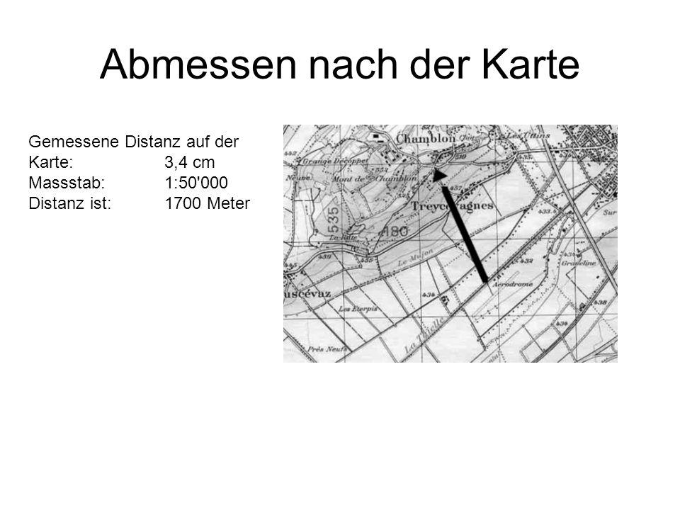 Abmessen nach der Karte