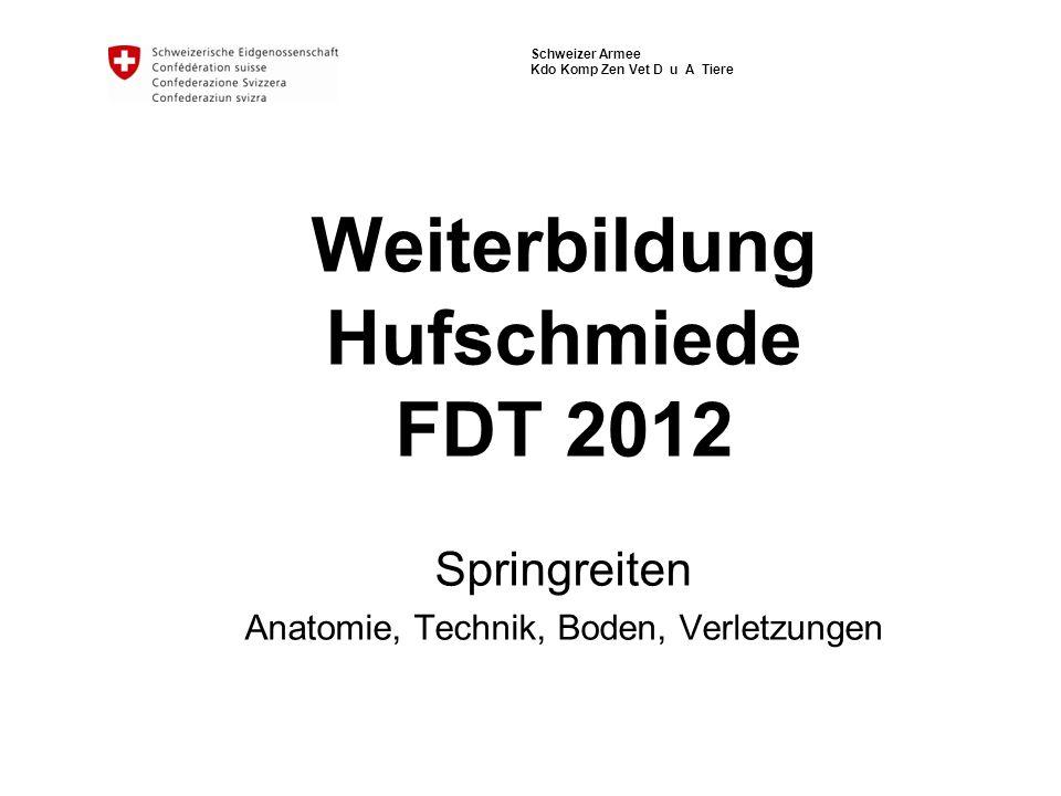 Weiterbildung Hufschmiede FDT 2012