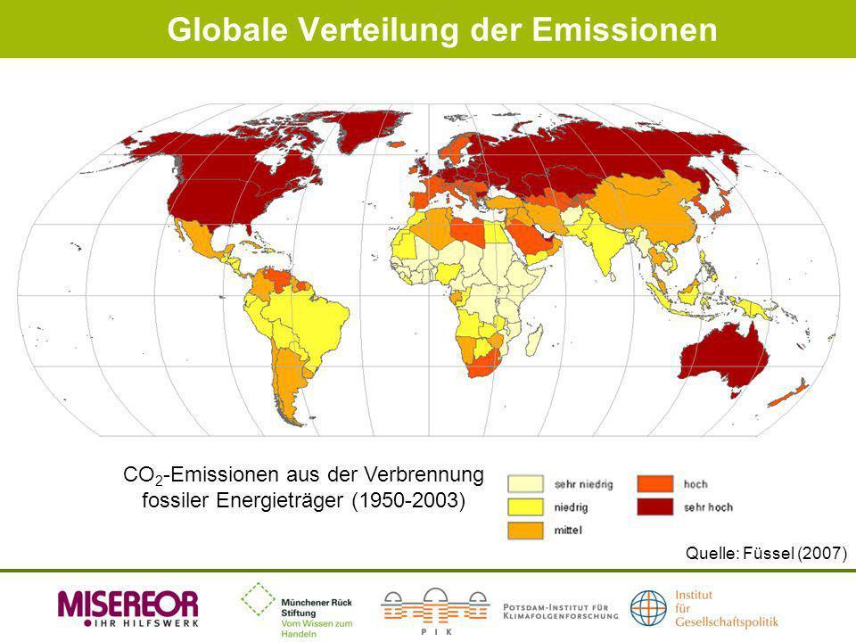 Globale Verteilung der Emissionen