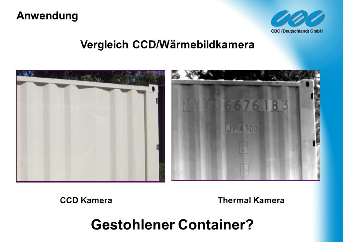 Gestohlener Container
