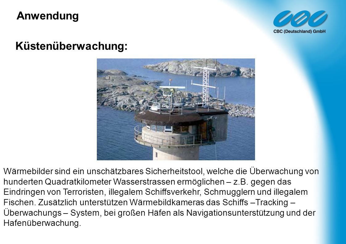 Anwendung Küstenüberwachung: