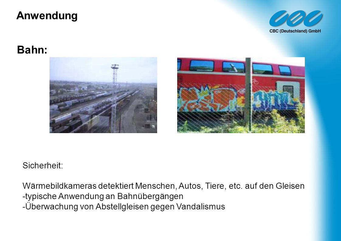 Anwendung Bahn: Sicherheit:
