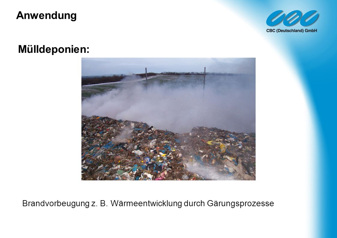 Anwendung Mülldeponien: