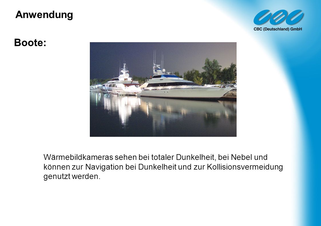 Anwendung Boote: