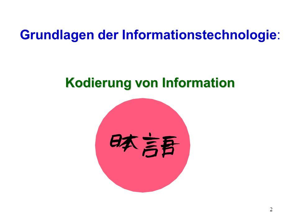 Kodierung von Information