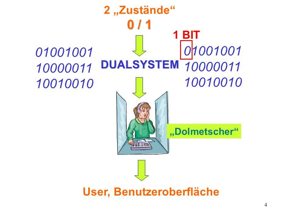 User, Benutzeroberfläche