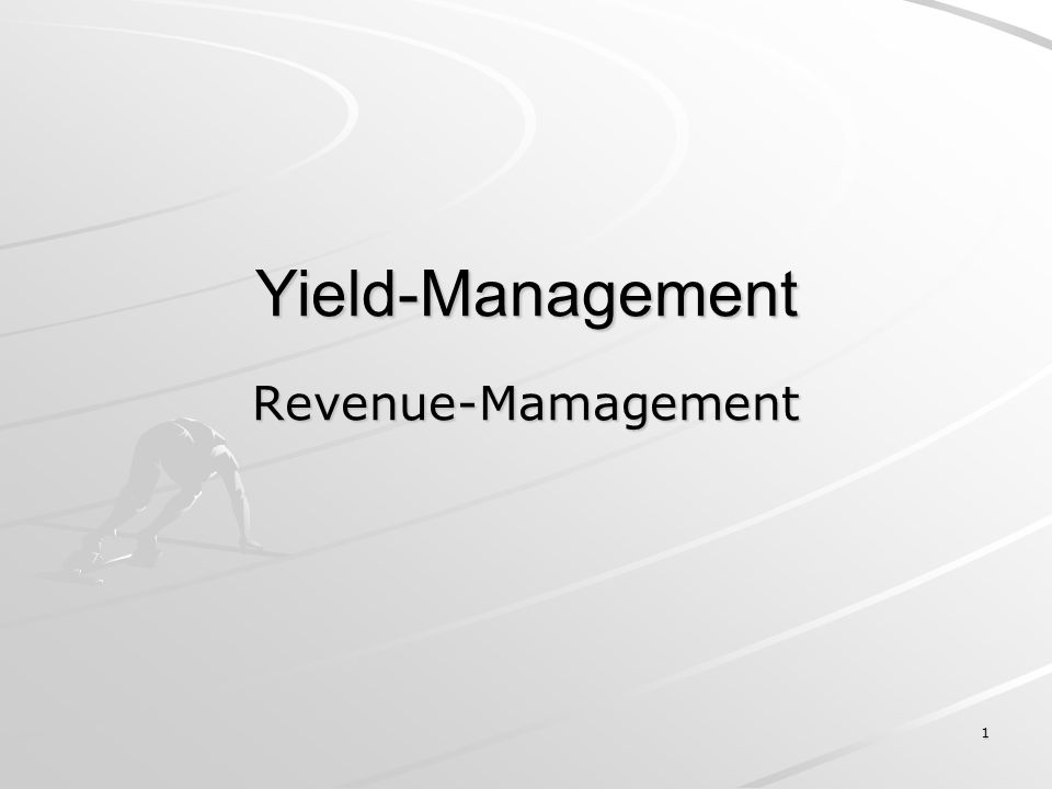 Yield-Management Revenue-Mamagement