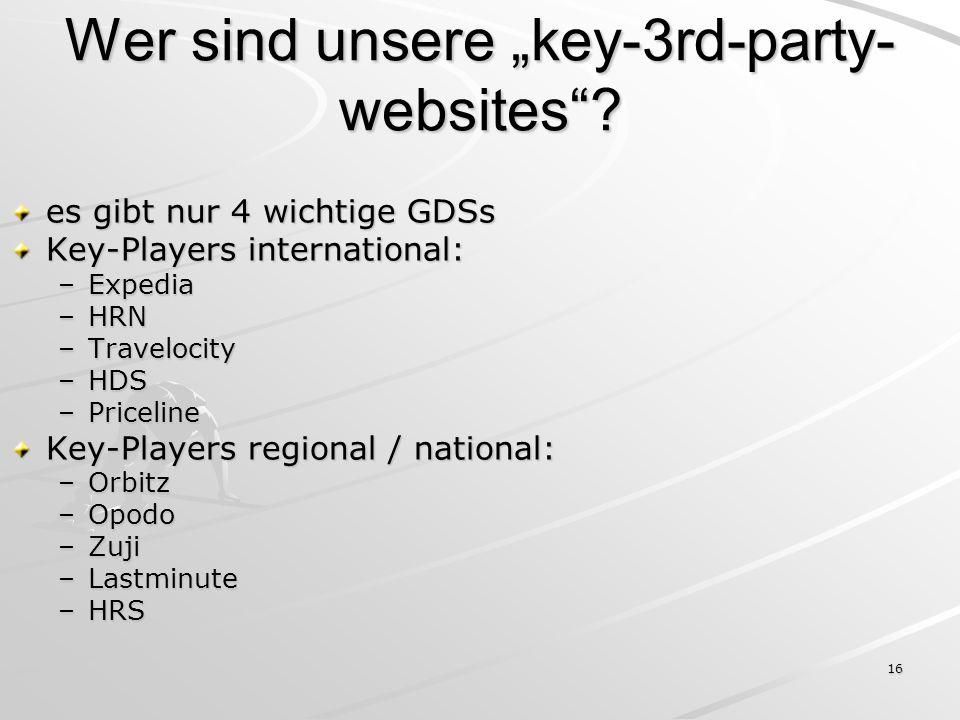 """Wer sind unsere """"key-3rd-party-websites"""