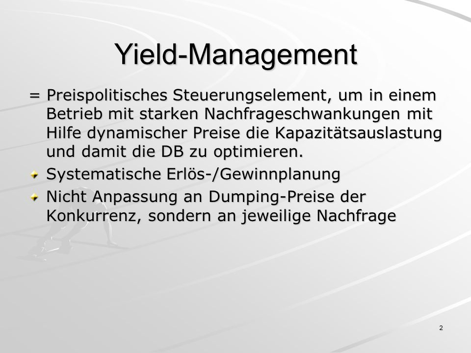 Yield-Management