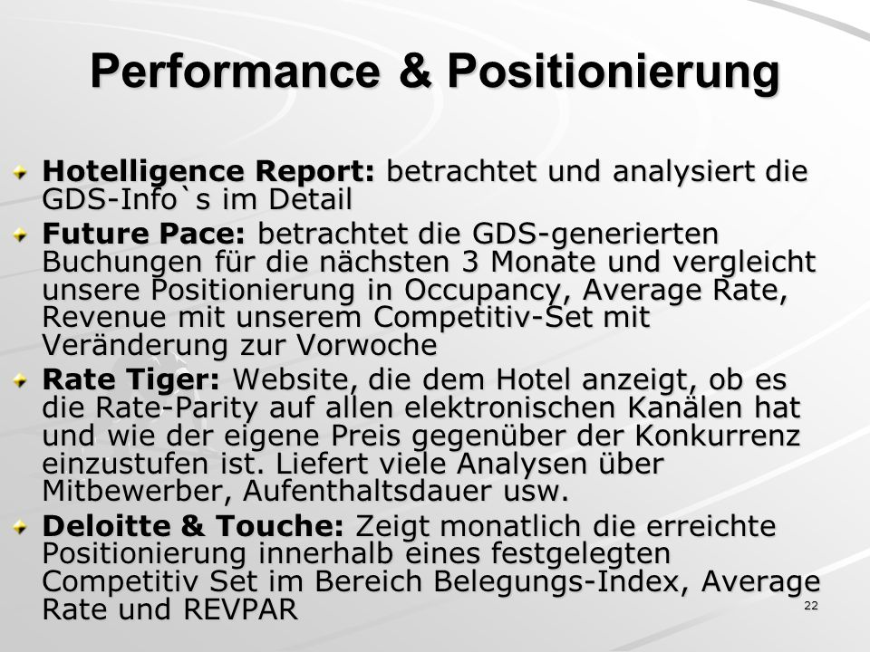 Performance & Positionierung