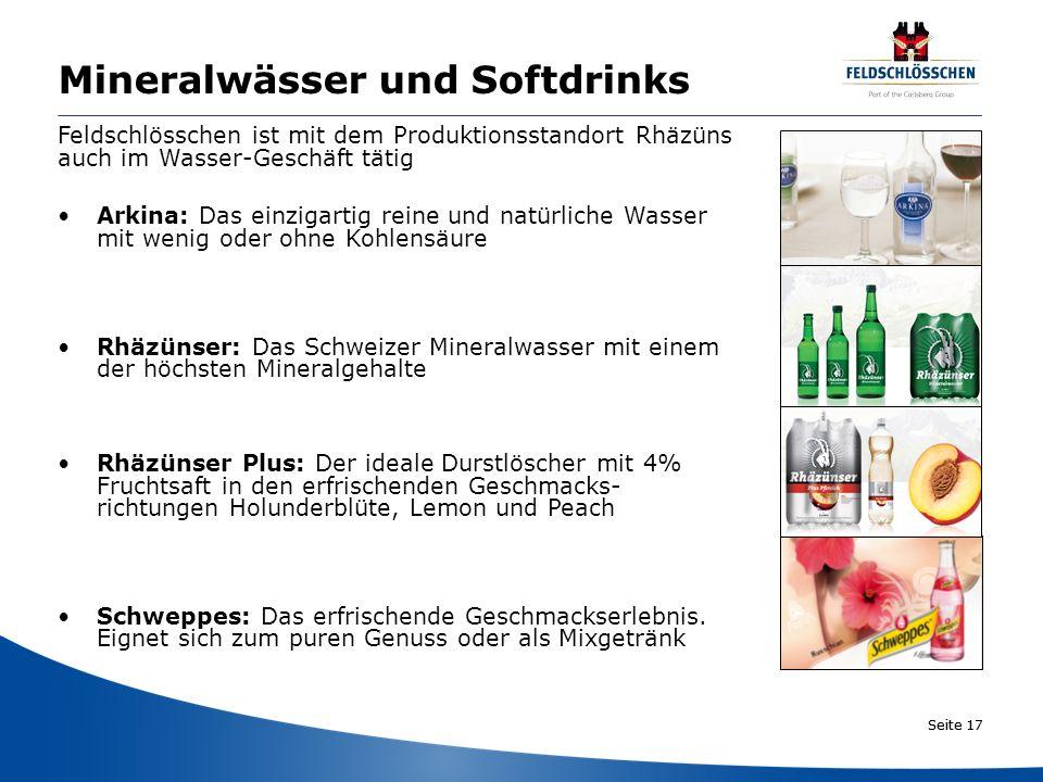Mineralwässer und Softdrinks