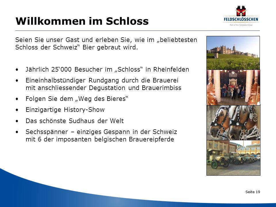"""Willkommen im Schloss Seien Sie unser Gast und erleben Sie, wie im """"beliebtesten. Schloss der Schweiz Bier gebraut wird."""