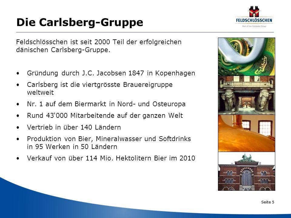 Die Carlsberg-Gruppe Feldschlösschen ist seit 2000 Teil der erfolgreichen. dänischen Carlsberg-Gruppe.