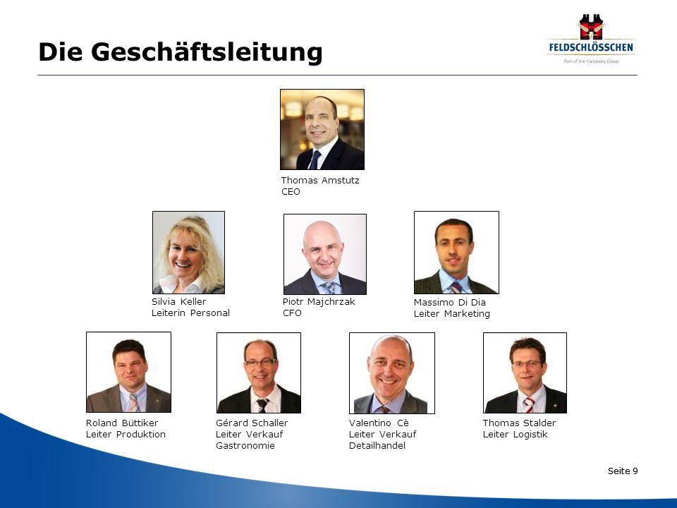 Die Geschäftsleitung Thomas Amstutz CEO Silvia Keller