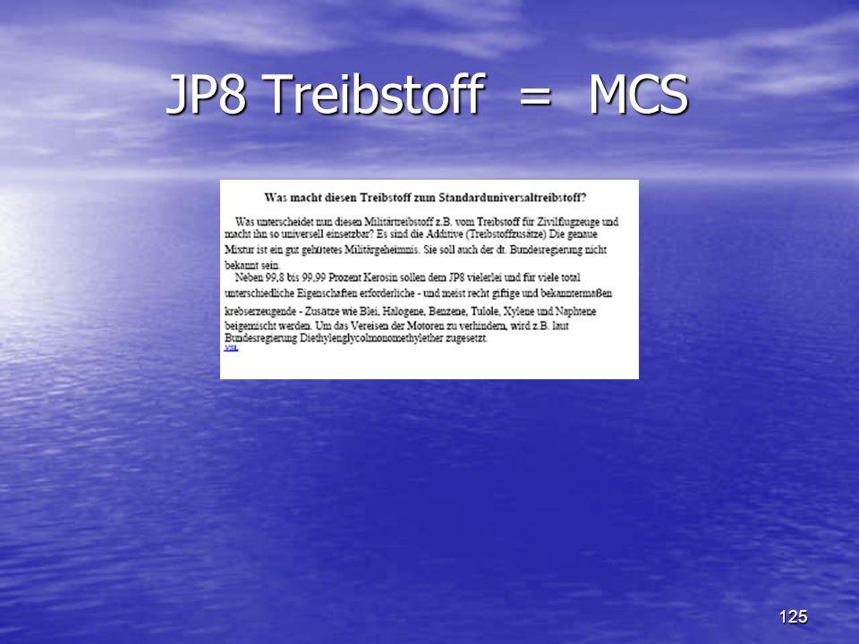 JP8 Treibstoff = MCS