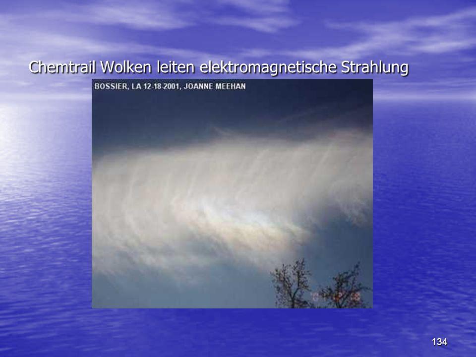 Chemtrail Wolken leiten elektromagnetische Strahlung