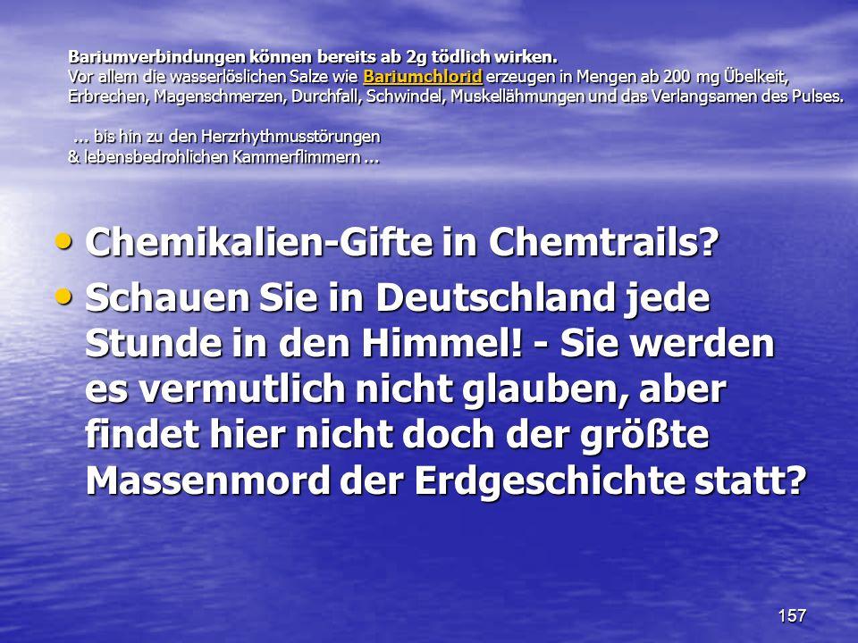 Chemikalien-Gifte in Chemtrails