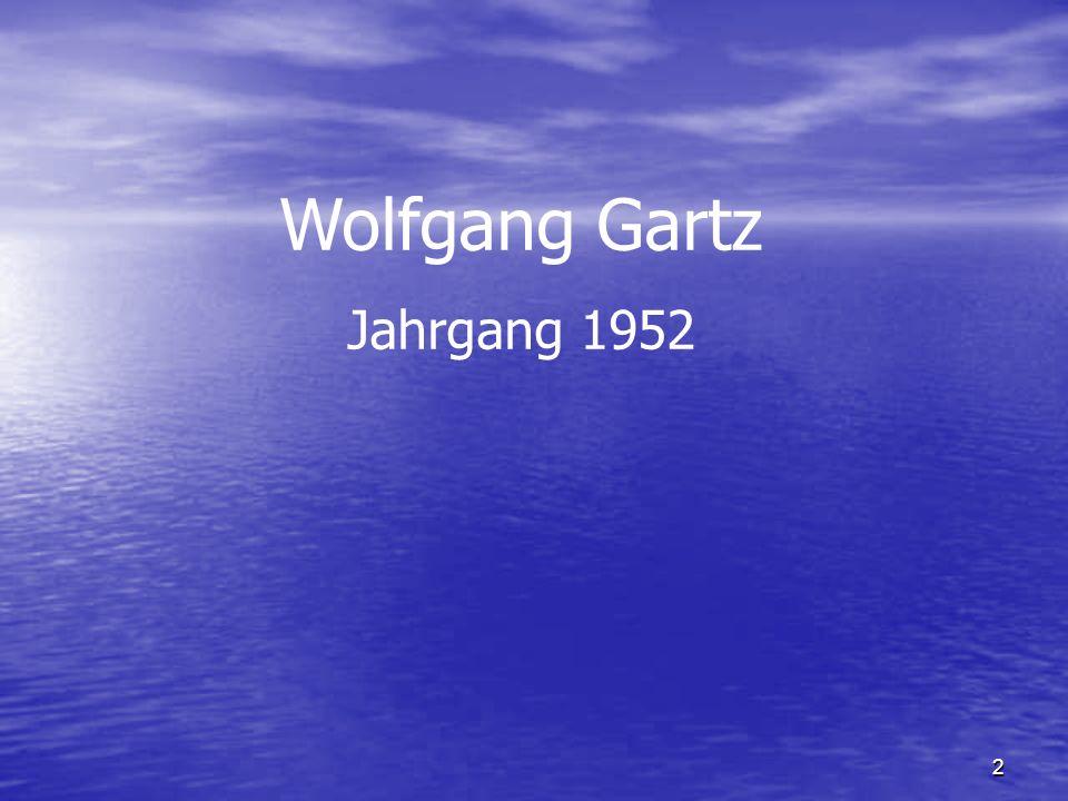 Wolfgang Gartz Jahrgang 1952