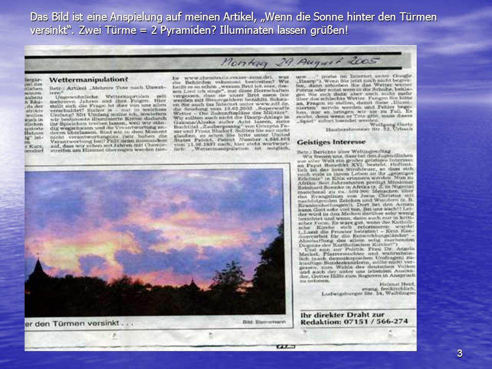 """Das Bild ist eine Anspielung auf meinen Artikel, """"Wenn die Sonne hinter den Türmen versinkt ."""