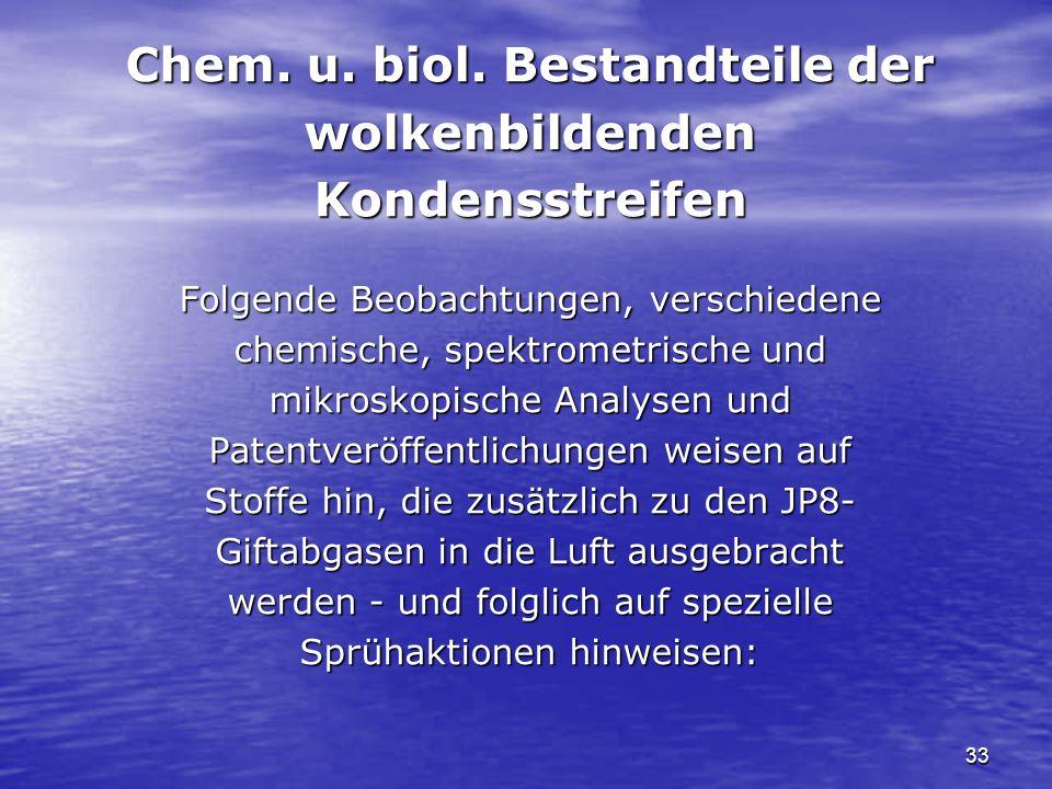 Chem. u. biol. Bestandteile der