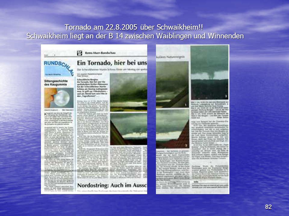 Tornado am 22. 8. 2005 über Schwaikheim