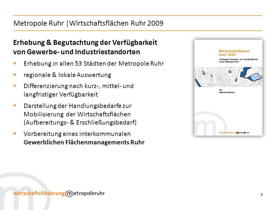 Metropole Ruhr |Wirtschaftsflächen Ruhr 2009