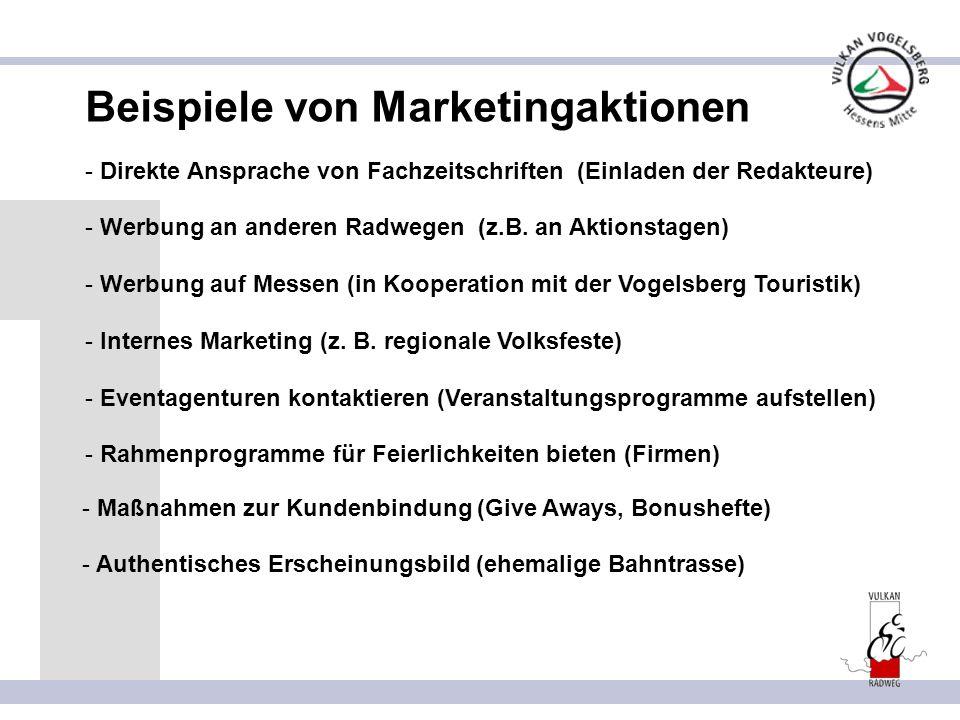 Beispiele von Marketingaktionen
