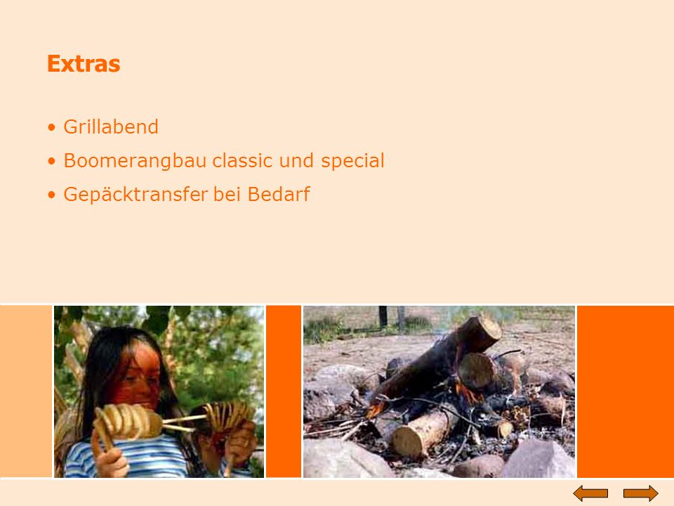 Extras Grillabend Boomerangbau classic und special