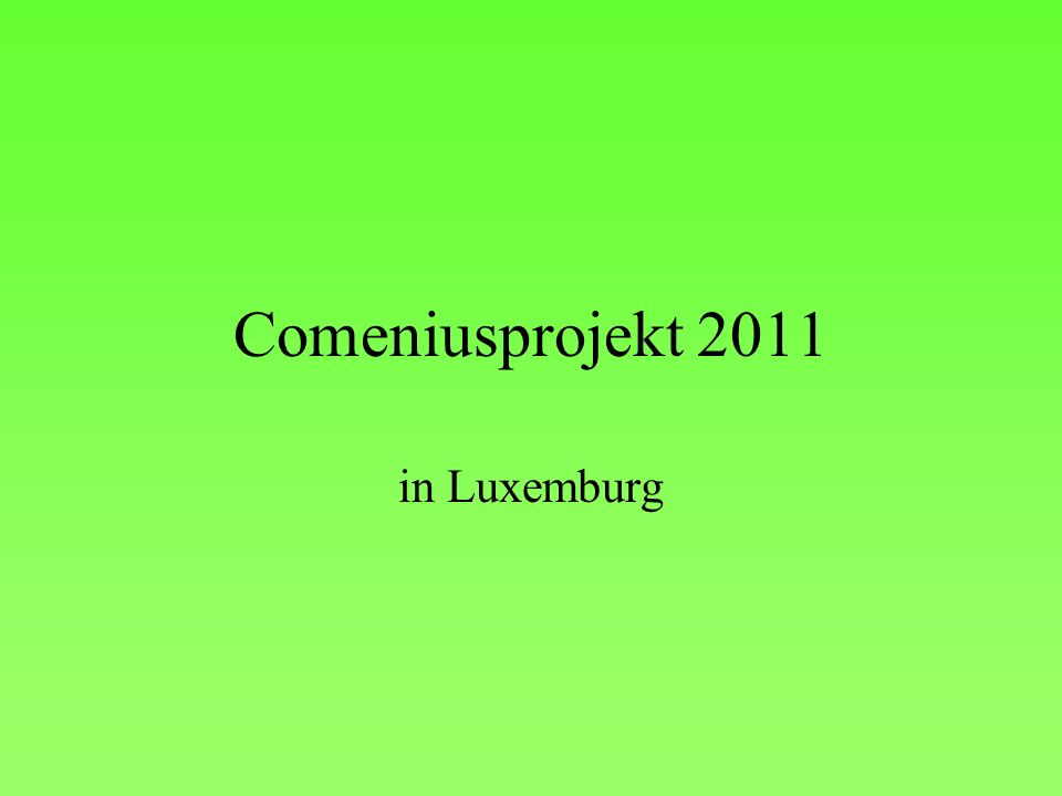 Comeniusprojekt 2011 in Luxemburg