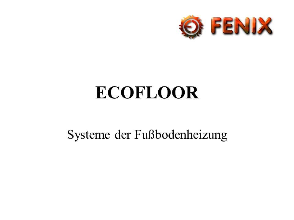 Systeme der Fußbodenheizung