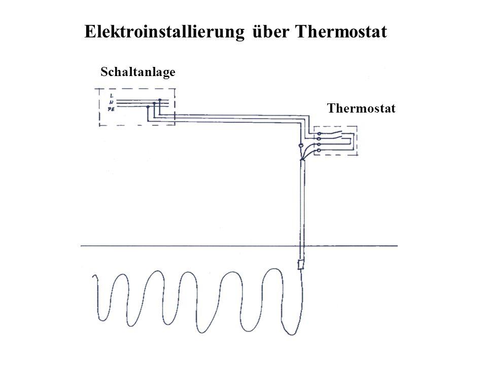 Elektroinstallierung über Thermostat