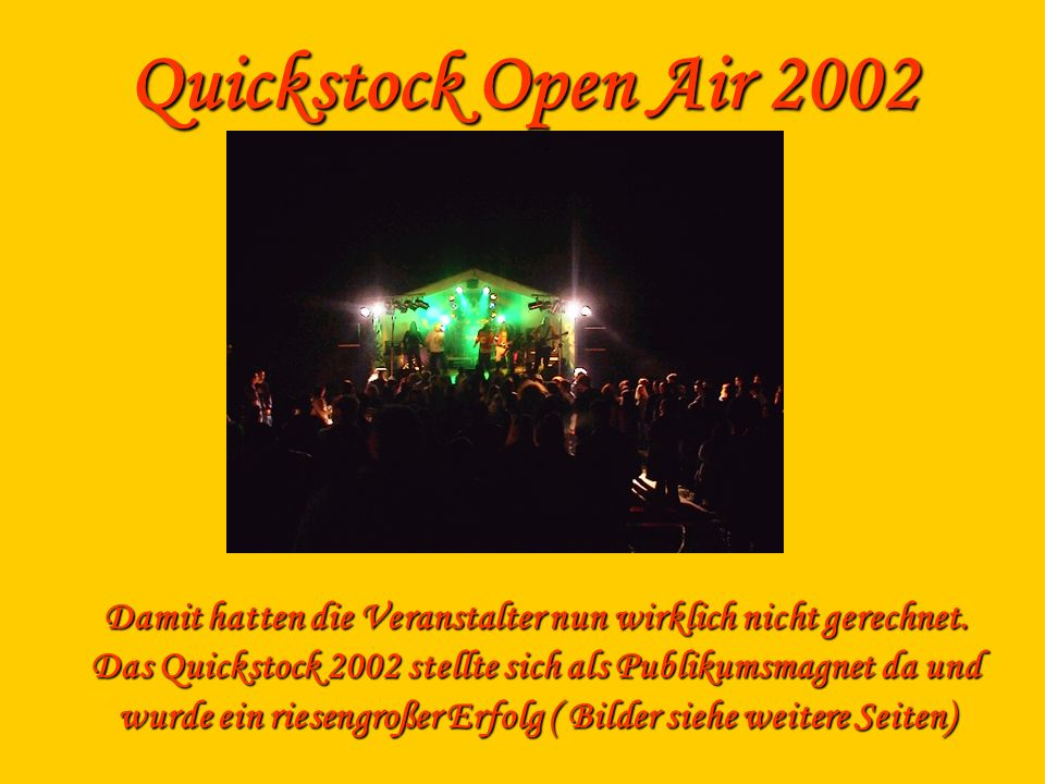 Quickstock Open Air 2002