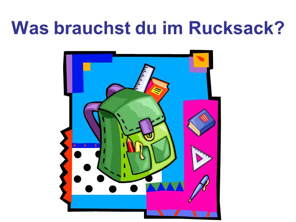 Was brauchst du im Rucksack