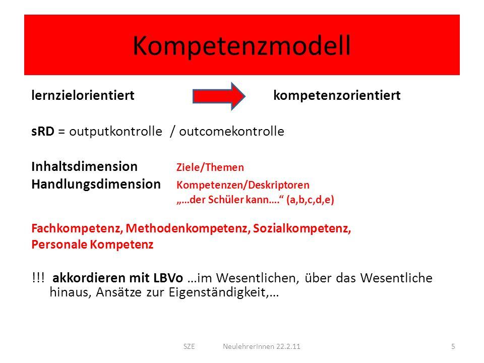 Kompetenzmodell lernzielorientiert kompetenzorientiert